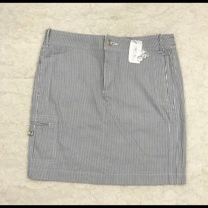 NWT Saks Fifth Avenue Pinstripe Pencil Skirt
